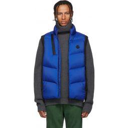 Black & Blue Down Jacot Vest
