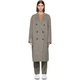 Grey Wool Odethe Double-Breasted Coat