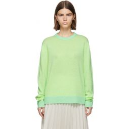 Green & Yellow Cashmere Kassio Sweater