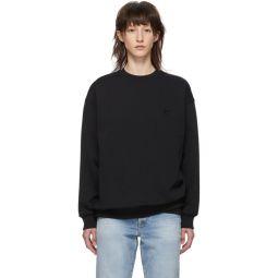 Black Oversized Forba Face Sweatshirt