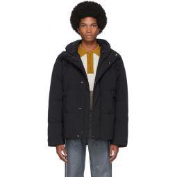 Black Down Hooded Jacket