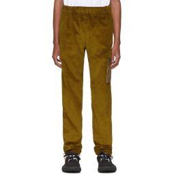 Yellow Corduroy Cargo Pants