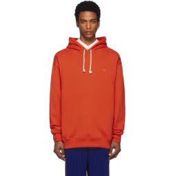 Red Oversized Farrin Face Hoodie
