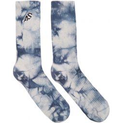 Navy & White Tie-Dye Wardrobe Socks
