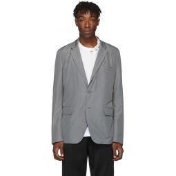 Grey Satin Padded Blazer