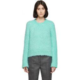 Blue Handmade Boucle Sweater