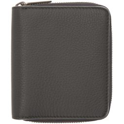 Grey Zip-Around Wallet