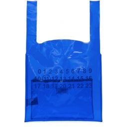 Blue Transparent Plastic Tote