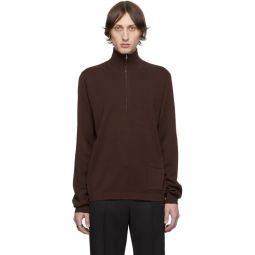 Brown Zip Sweater