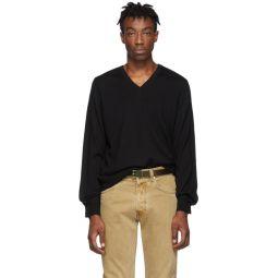 Black Gauge 12 Jersey V-Neck Sweater