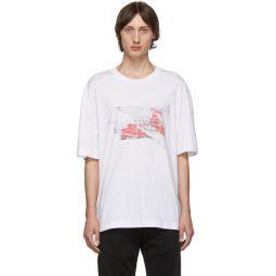 White Logo Destroyed Tab T-Shirt