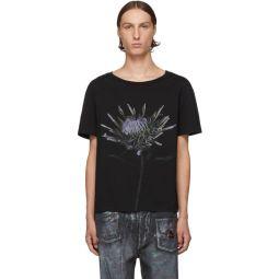 Black Flower Print T-Shirt