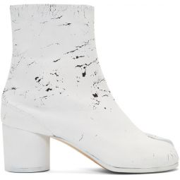 SSENSE Exclusive Black White-Out Tabi Boots