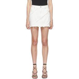 White Diagonal SM Bite Skirt