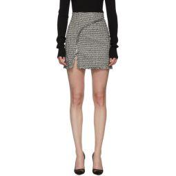 Black & White Tweed Miniskirt