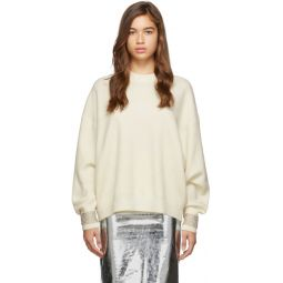 Off-White Crystal Cuff Pullover