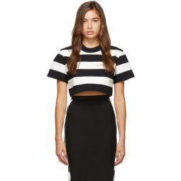 Black & White Striped Chynatown Cropped T-Shirt