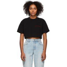 Black Chynatown Cropped T-Shirt