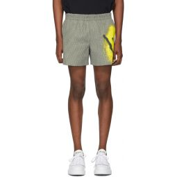 Black & White Spray Paint Shorts