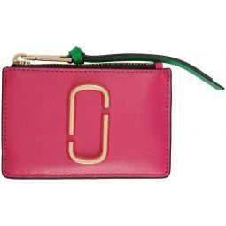 Pink Snapshot Top Zip Multi Card Holder