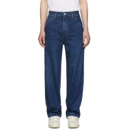 Blue Dungaree Sport Throwback Jeans