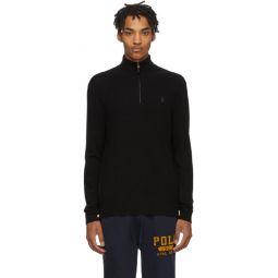Black Wool Half-Zip Sweater