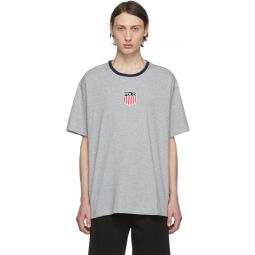 Grey Classic Fit Graphic T-Shirt