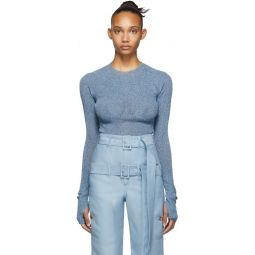 Blue Metallic Sweater