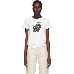 White & Black Printed T-Shirt