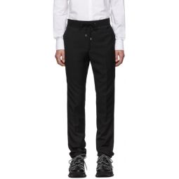 Black Grosgrain Belt Slim-Fit Trousers
