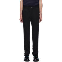 Black Jersey Suit Trousers
