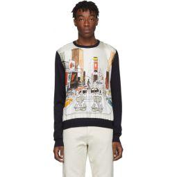 Navy Babar Crewneck Sweater