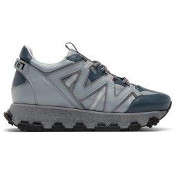 Blue & Grey Lightning Sneakers