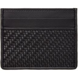 Black Pelletessuta Card Holder