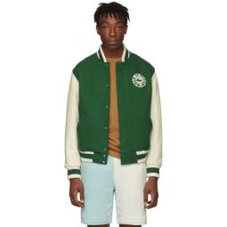 Green Golf le Fleur* Edition Varsity Bomber Jacket