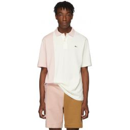 Pink & White Golf le Fleur* Edition Colorblocked Polo