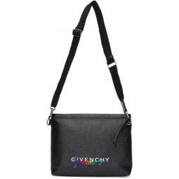 Black Signature Crossbody Bag