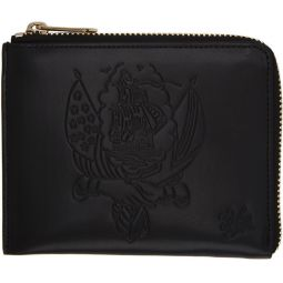 Black Tattoo Corner Zip Wallet