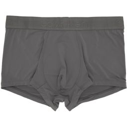 Grey Micro Low-Rise Boxer Briefs