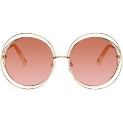 Gold & Pink Carlina Petite Sunglasses