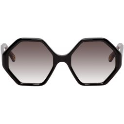 Black Oversized Octagon Sunglasses