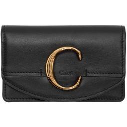 Black Chloe C Card Holder