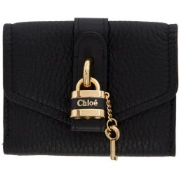 Black Mini Aby Square Lock Wallet