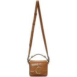 Brown Mini Croc Chloe C Double Carry Bag