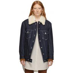 Blue Quilted Denim Jacket