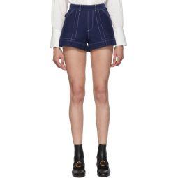 Blue A-Line Shorts