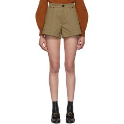 Tan A-Line Shorts
