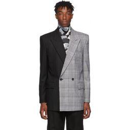 Black & Grey Double Breasted Blazer