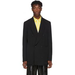 Black Wool Gabardine Blazer