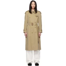 Beige Long Classic Trench Coat
